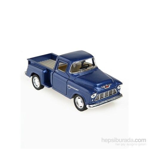 Kinsmart 1955 Chevy Stepside Pick-Up Çek Bırak 1/32 Die Cast Model Araç Mavi