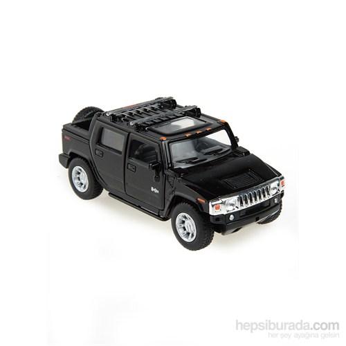 Kinsmart 2005 Hummer H2 SUT Çek Bırak 1/40 Die Cast Model Araç Siyah