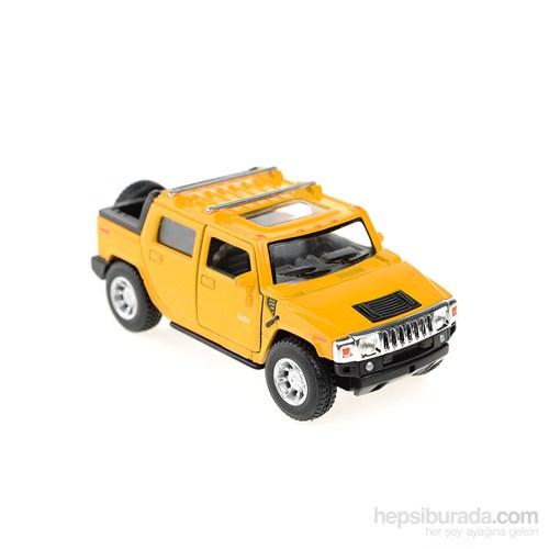 Kinsmart 2005 Hummer H2 SUT Çek Bırak 1/40 Die Cast Model Araç Sarı