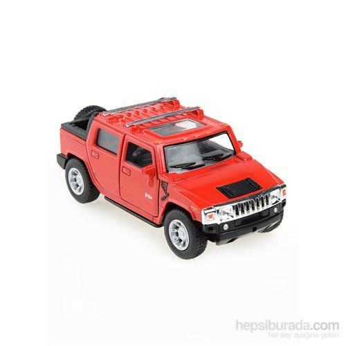Kinsmart 2005 Hummer H2 SUT Çek Bırak 1/40 Die Cast Model Araç Kırmızı