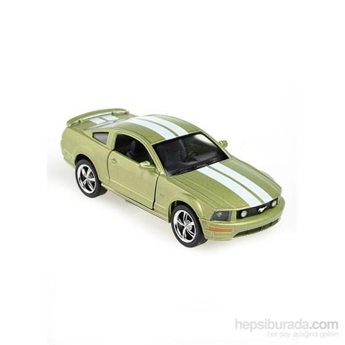 Kinsmart 2006 Ford Mustang GT Çek Bırak 1/38 Die Cast Model Araç Yeşil