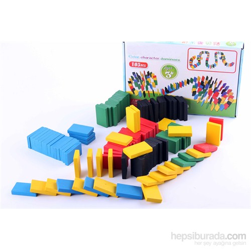 Wooden Toys Wooden Color Character Dominos