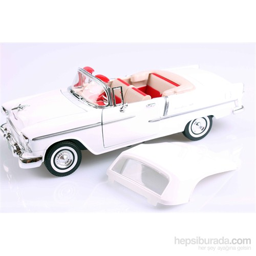 Motomax 1955 Chevy Bel Air 1/18 Die Cast Model Araç