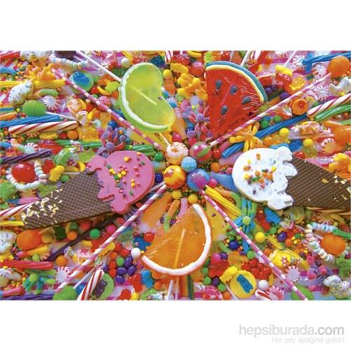Educa 500 Parça Puzzle Rengarenk Şekerler