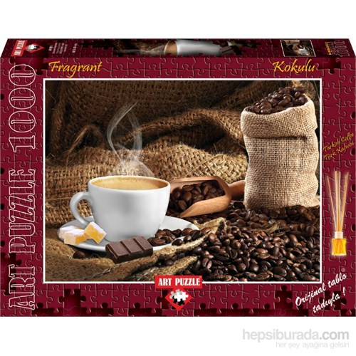 Art Puzzle 1000 Parça Kahve Kokulu Puzzle (Dumanı Üstünde)