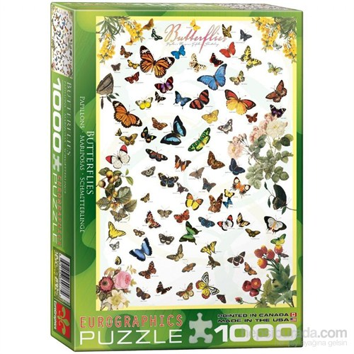 Eurographics Puzzle 1000 Parça Kelebekler
