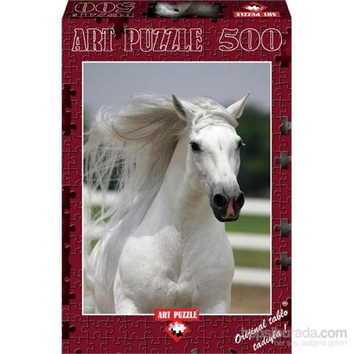 Art Puzzle 500 Parça Beyaz At Puzzle