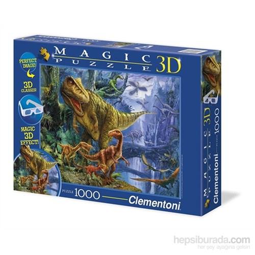 Clementoni Magic Puzzle 3D Dinosaur Valley - 1000 Parça Puzzle