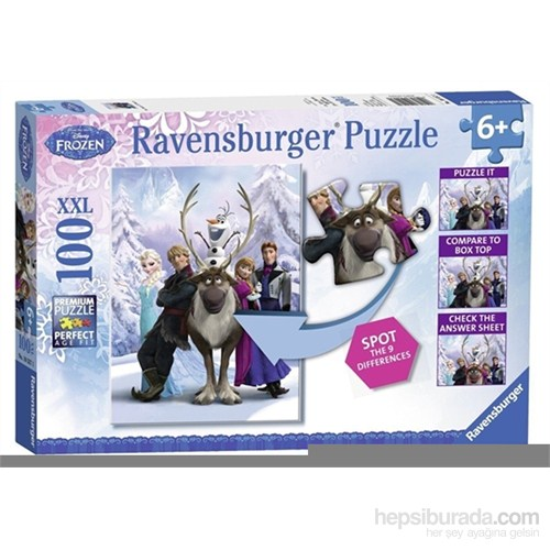 Ravensburger Wd Frozen Difference - 100 Parça Xxl Puzzle