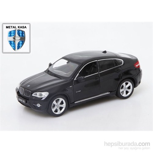 Asonic 25019A Siyah Bmw X6 Metal Kasa 1/24 Uzaktan Kumandalı Araba