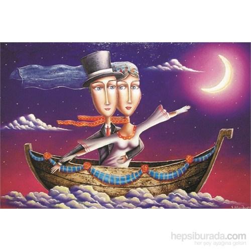 Gold 1000 Parça Mutluluğa Yelken Açtık Puzzle