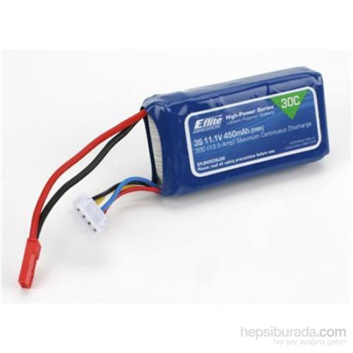 E-Flite 450Mah 3S 11.1V 30C Lipo Batarya