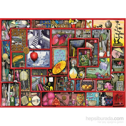 Ravensburger 1000 Parça Kırmızı Kutu Puzzle (Colin Thompson)