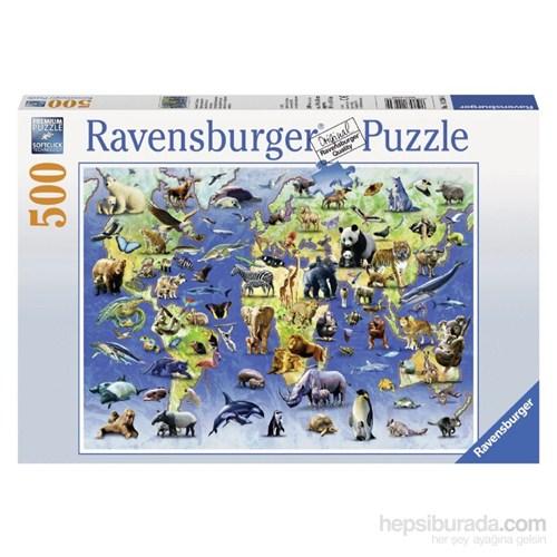 Ravensburger 500 Parça Puzzle Hayvanlar