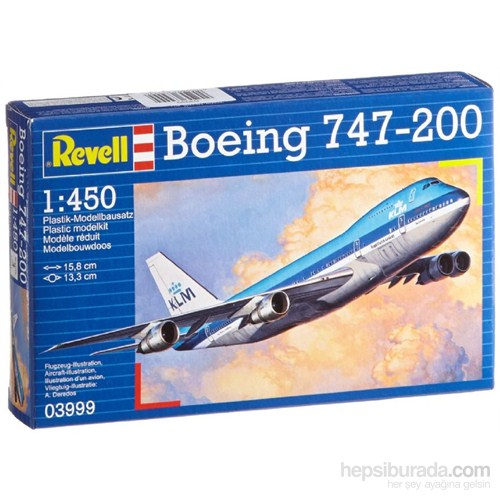 Revell M Set Boeing 747 200 Yolcu Uçağı