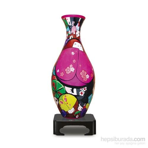 Pintoo Japon Bebekler - 160 Parça Plastik Vazo Puzzle