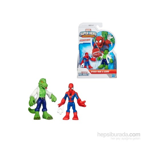 Marvel Super Hero Adventures Spider-Man Lizard Figures