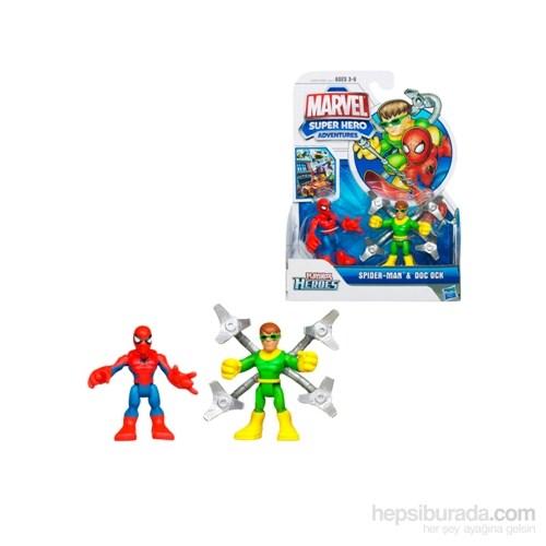 Marvel Super Hero Adventures Spider-Man Dock Ock Figures