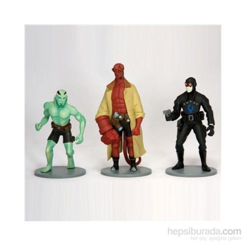 Hellboy Art 3 Pieces Pvc Set Hellboy 3'Lü Figür Seti