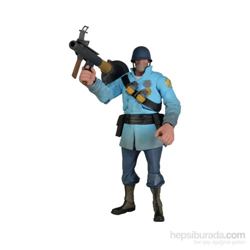 Team Fortress Series 2 Deluxe Blu Soldier Figür