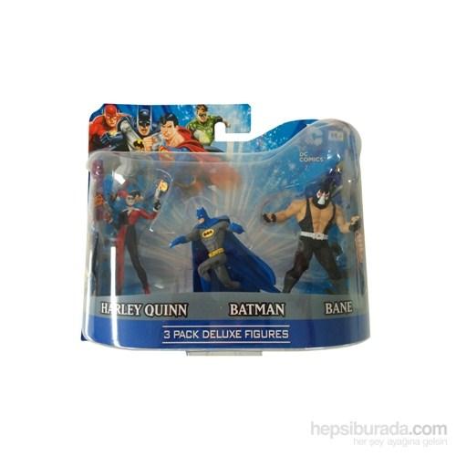 Dc Comics Batman, Bane, Harley Quinn 3'Lü Figür Seti