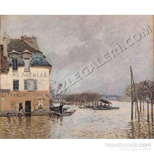 La Barque Pendant L'inondation A Port-Marly, Sisley (2000 Parça Puzzle)60001076