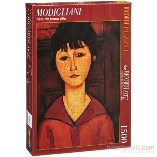 Tete De Jeune Fille, Modigliani (1500 Parça Puzzle)