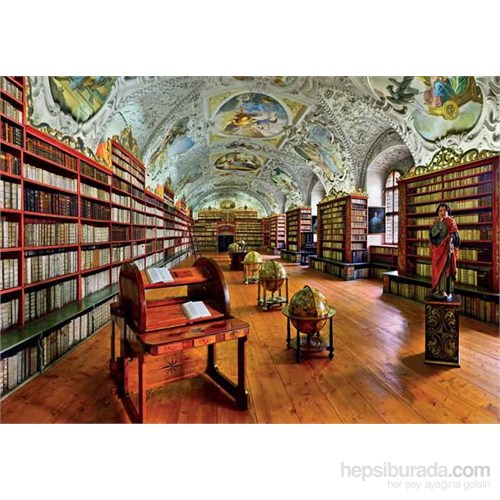 Theological Hall, Strahov Library, Prague (3000 Parça Puzzle)
