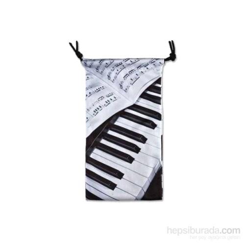 Piyano Ve Notalı Gözlük Kabı