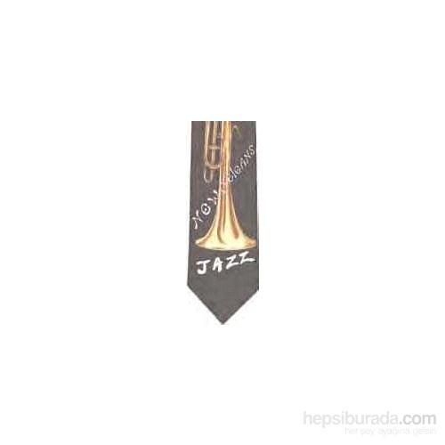 Jazz Temalı Polyester Kravat