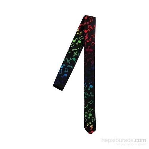 Renkli Notalar İnce Kesim Kravat