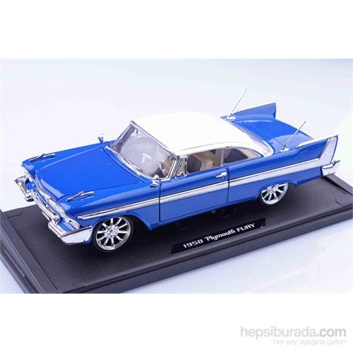 Motomax 1958 Plymouth Fury 1/18 Die Cast Model Araç