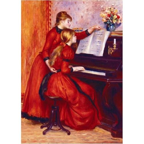 Gold Puzzle Piyano Başında Genç Kızlar (1000 Parça)