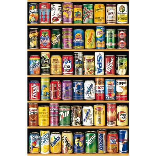 Educa 1000 Parça Minyatür Puzzle Soft Cans