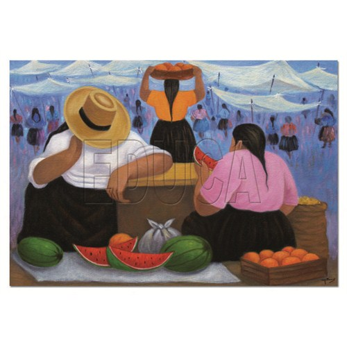 Educa Puzzle Fruit Vendors (1000 Parça)