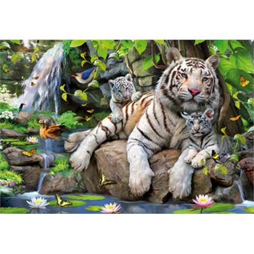 Educa Puzzle Bengal White Tigers (1000 Parça)