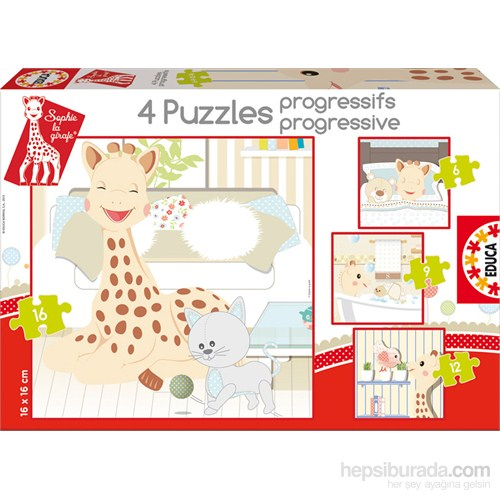 Educa Puzzle Çocuk 6-9-12-16 Progressıve Sophıe La Gırafe