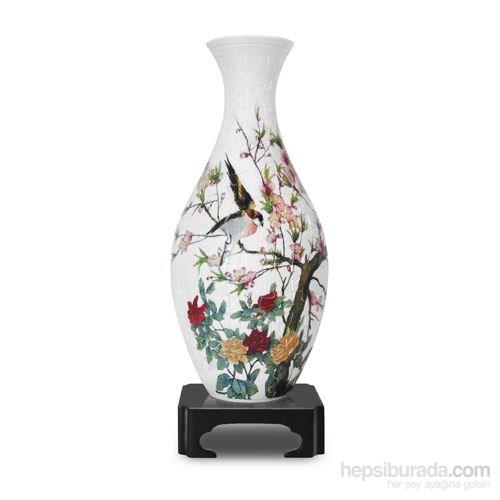 Pintoo 160 Parça 3D Plastik Vazo Puzzle (Çiçekler ve Şakırdayan Kuşlar)