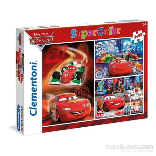 Clementoni Cars - 3X48 Parça 3'Lü Puzzle
