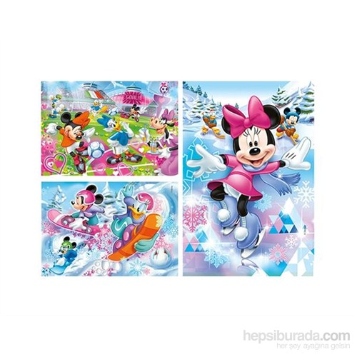 Clementoni Minnie Sport - 3 X 48 Çocuk Puzzle