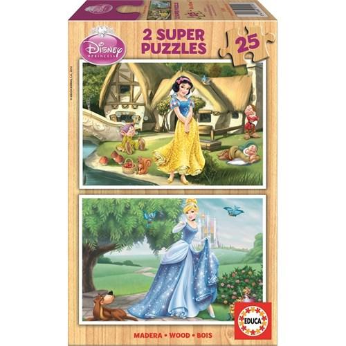 Educa Puzzle Çocuk 2X25 Parça Sindirella Ve Pamuk Prenses