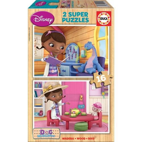 Educa Puzzle Çocuk 2 X16 Parça Disney Doc Mcstuffins
