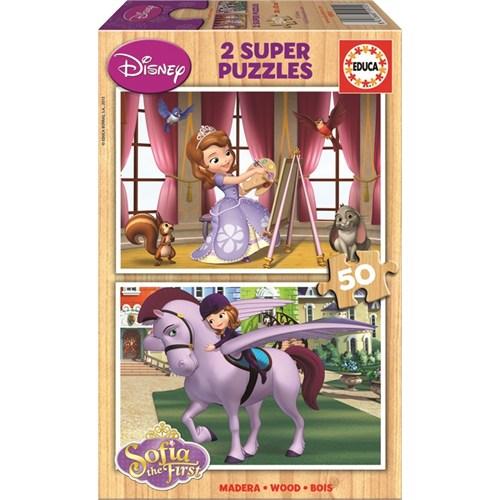 Educa Puzzle Çocuk 2 X 50 Parça Disney Sofia The First