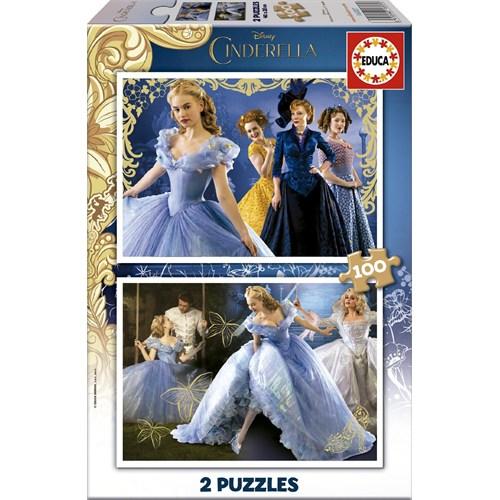 Educa Puzzle Çocuk 2X100 Parça Disney Cindirella