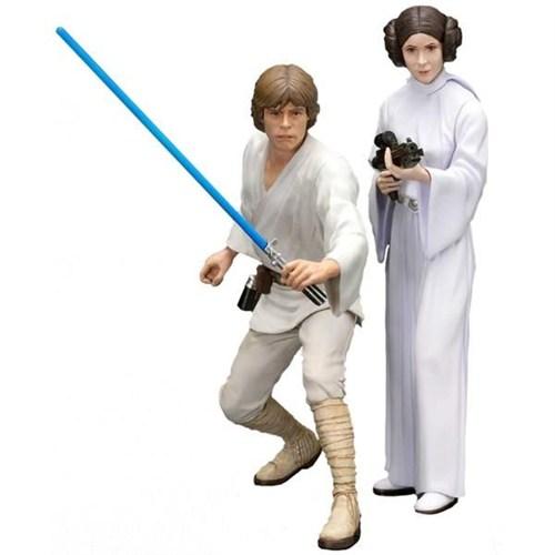 Kotobukiya Luke Skywalker And Princess Leia Star Wars Artfx+ Statue
