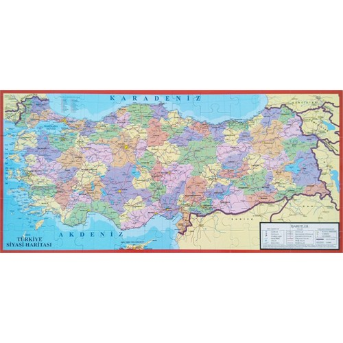Türkiye Haritası 81 İl (Her İl Ayrı Parça) Kutulu Puzzle
