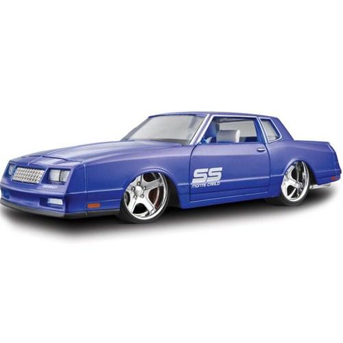 Maisto 1986 Chevrolet Monte Carlo Diecast Model Araba 1:24 AllStars Mavi