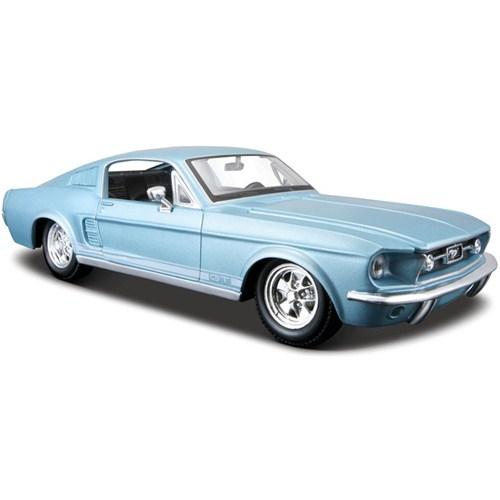 Maisto Ford Mustang Gt 1967 Diecast Model Araba 1:24 Special Edition Mavi
