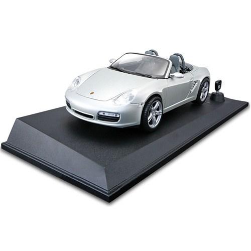 Maisto Porsche Boxster S Işıklı ve Sesli Koleksiyon Araba 1:18 Maisto Tech Gri