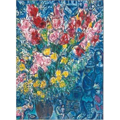 Ricordi Puzzle Le bouquet des fermiers, Chagall (1000 Parça)